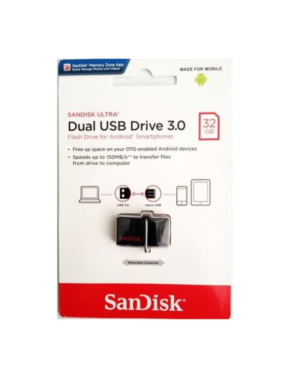 Flashdisk Sandisk Dual USB Drive 32 GB